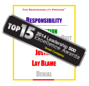 The Responsibility Process 2014 Leadership 500 Top 15