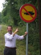 No Tanks sign in Sweden