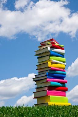 books-sky