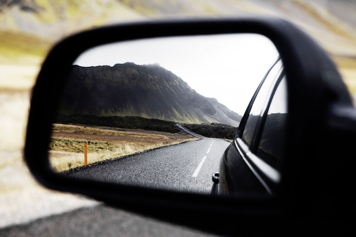 car mirror image